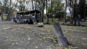 Донецк,Киевский район, обстрел, разрушения, дома, Град, проспект