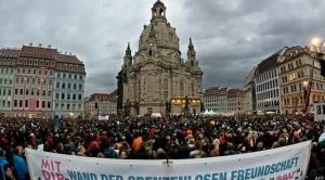 германия, дрезден, общество, митинги