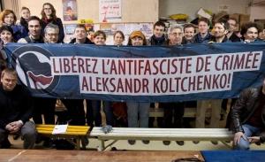 Франция, митинг, Кольченко, политика, Крым, Россия