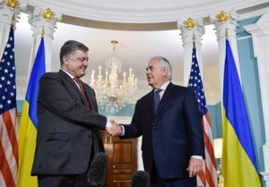 украина, сша, тиллерсон, порошенко, политика, вашингтон, белый дом