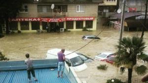 Россия, наводнение, ливень, потоп, Сочи, дождь, видео