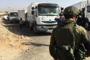 сирия, война в сирии, восточная гута, россия, асад, гуманитарная помощь, скандал