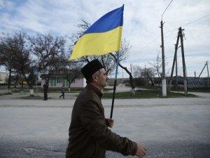 Крым, Симферополь, татары, арест, флаг Украины