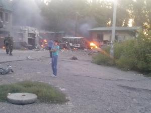 донецк, ато, днр, куйбышевский район, снаряд, последствия