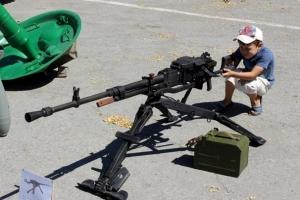лнр, боевики, дети, луганск, автомат, гранатомет