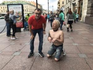 Александр Донской, Санкт Петербург, перформанс,  Дональд Трамп