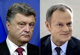 туск, порошенко, общество, политика, донбасс