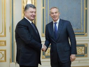 порошенко, блер, мировое сообщество, украина, англия