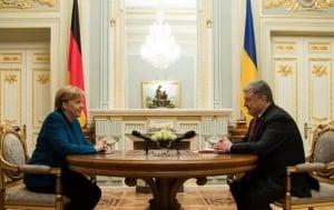новости, Украина, встреча, Меркель, Порошенко, поддержка антироссийский санкций, экономические санкции против России, санкции ЕС против РФ