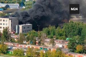 пожар, химический завод, пламя, пожарные, Россия, инцидент, происшествие