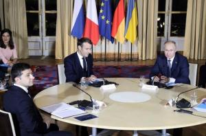 путин, россия, президент россии, нормандская четверка, переговоры, париж, новости украины