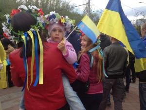 Славянск, Вече, единая Украина, митинг, люстрация, мэр