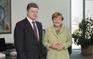 Киев, Меркель, встреча, Порошенко, переговоры