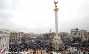 Киев, Майдан Независимости, вече, люстрация, Небесная сотня