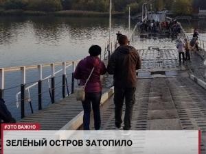 Ростов-на-Дону, ливни, мост, затопление, Россия, остров Зеленый, непогода, происшествия