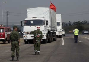 Гуманитарка, грузовики, РФ, граница, возвращаются, КПП