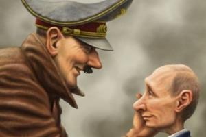 Гитлер, Путин, Россия, Германия, нацизм, история, Вторая мировая война, союзники, соцсети, опрос, комментарии