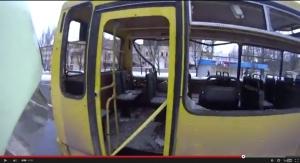 автобус, киевский проспект, воронки, миномет, донецк, война