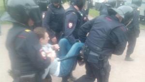санкт-петербург, видео, фото, москва, навальный, акции протеста, антикоррупционный митинг, задержания, омон, новости россии