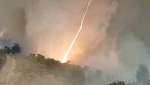 Португалия, Огненный смерч, Торнадо, Лесные пожары, Видео, Спасатели