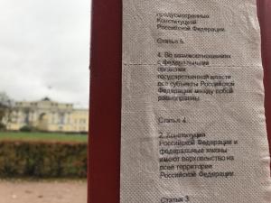 новости, Россия, Санкт-Петербург, Конституционный суд, Основной закон, Конституция, туалетная бумага, фото, соцсети