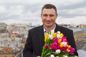 виталий кличко, 8 марта, женщины, тюльпаны, крещатик, киев, украина