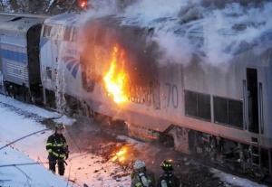 Канада, нефть, поезд, авария, пожар