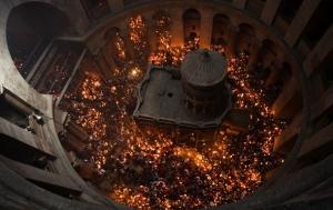 Храм Гроба Господнего, Иерусалим, Благодатный огонь, Пасха, Христиане, схождение благодатного огня, израиль, смотреть онлайн