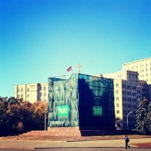 Харьков, памятник Ленину, флаг, Новороссия, ДНР, Донецкая республика, Украина, АТО, Нацгвардия