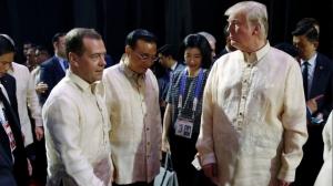 дональд трамп, дмитрий медведев, сша, россия, филиппины, манила, саммит, политика