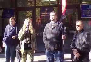 правый сектор, пикет, апелляционный суд, тарасенко, киев