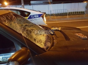 ДТП, Киев, автомобиль сбил волонтеров