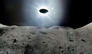 НЛО, неопознанный летающий объект, тарелка, инопланетяне, пришельцы, видео, космос, Луна, лунная поверхность