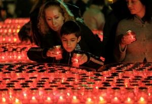 Майдан, Киев, свечи, акция