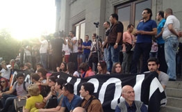 новости, общество, полиция, армения, ереван, волнения, беспорядки, протест, митинг, евросоюз, флаги