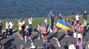 спорт, марафон, США, Одесса, Украина, спортсмен, флаг Украины