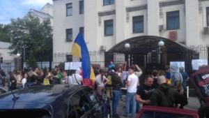 киев, пикет, ахметов, украина, общество, происшествия, донбасс