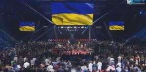 Россия, Украина, Москва, Поветкин, Руденко, зал встал во время гимна Украины, общество, бокс, спорт, кадры