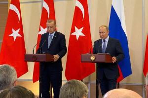 Эрдоган, Владимир Путин, Президент, Турция, Россия, Сирия, Соглашение, Меморандум, Конфликт, Курды, Видео, Сочи, Встреча, Переговоры, Пресс-конференция