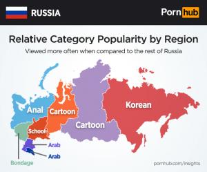 Россия, Роскомнадзор, PornHub, политика, общество, карта россии, PornHub, крым, новости россии, политика, какое порно смотрят россияне