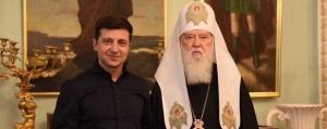 Зеленский, Филарет, выборы, президент Украины, поздравления, патриарх, ПЦУ, Салабай