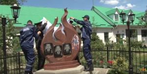 ЛЬвовская область, трагедия, погибшие пожарные, Жовква, памятник огнеборцам