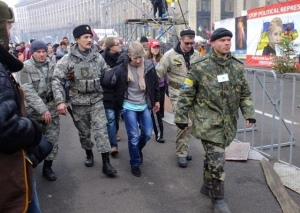 майдан, самооборона, взрыв, патрулирование городов