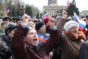 донецк, днр, митинг, украина, выборы, скандал