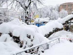 Киев, погода, снег, расчистка дорог, ограничение въезда в город, общество, новости Украины