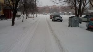 Днепропетровск, снег, зима, плохая погода, метель, гололед, не чищенные дороги, сугробы, общество, фото, новости Украины