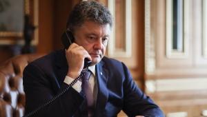 Петр Порошенко, Телефонная конференция, Нормандская четверка, Война на Донбассе, Российская агрессия, Миротворцы ООН