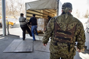 Гуманитарка, Россия, Луганск, ЛНР, разгрузка, склады