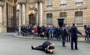 Зеленский, встреча, Париж, Донбасс, Нормандский, формат, Путин, активисты, протест, задержание