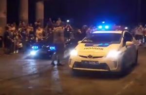 полиция Одессы, уличные гонки с участием полиции, новая полиция Украины